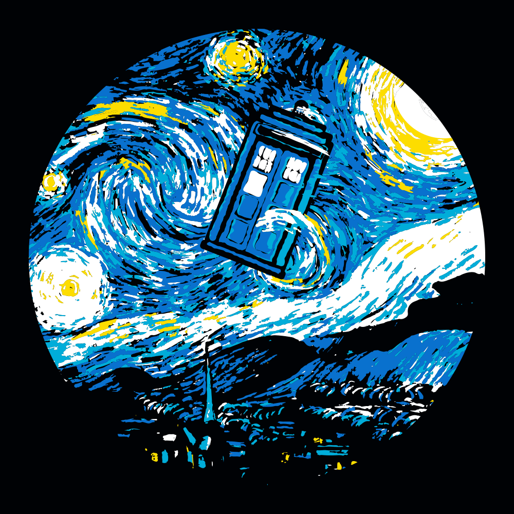 Starry Night Police Box