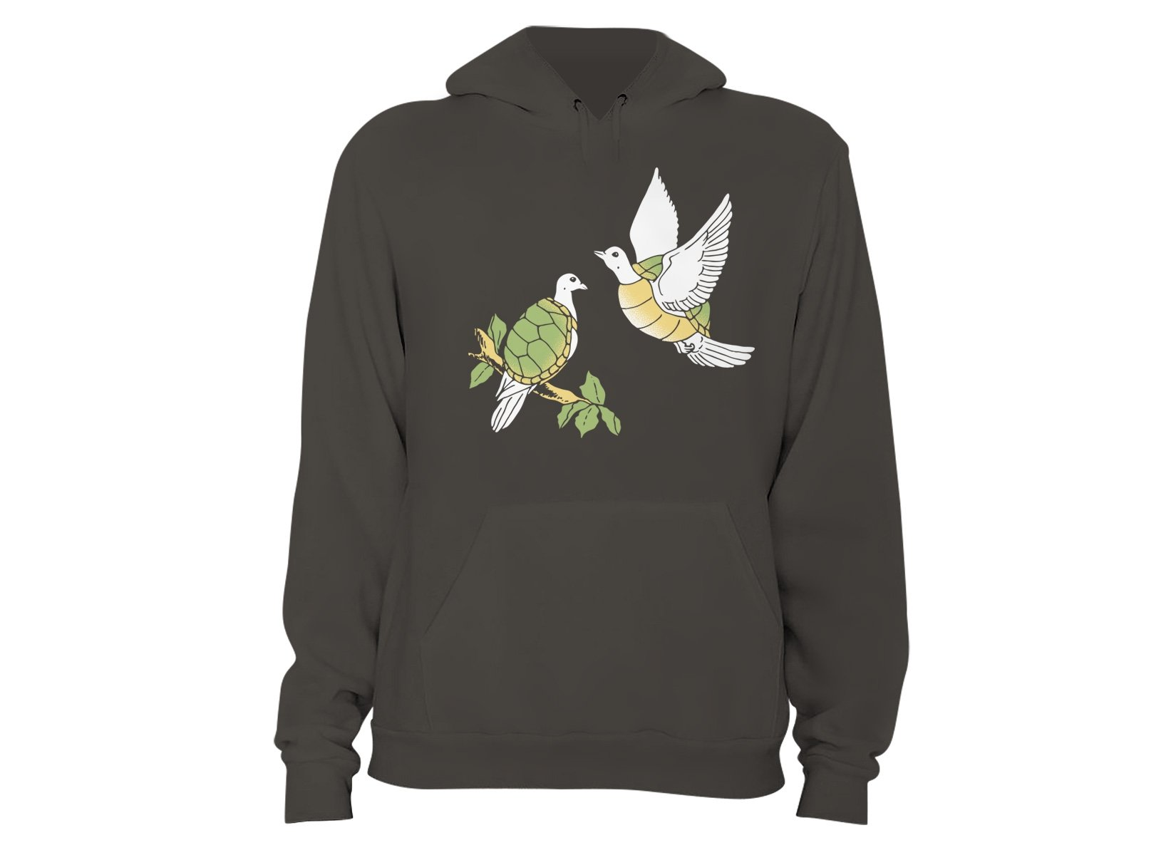 Two Turtle Doves on Hoodie