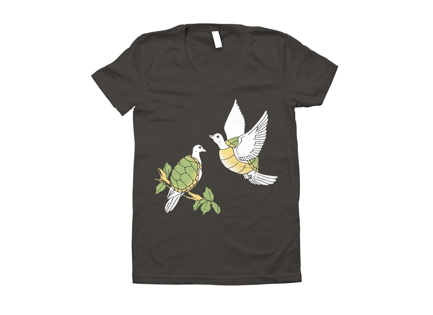 Two Turtle Doves on Juniors T-Shirt