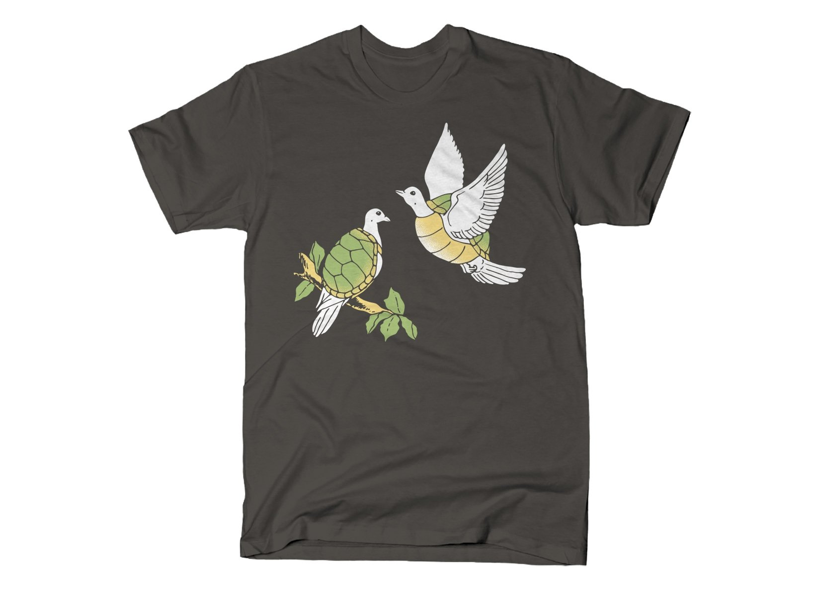 Two Turtle Doves on Mens T-Shirt