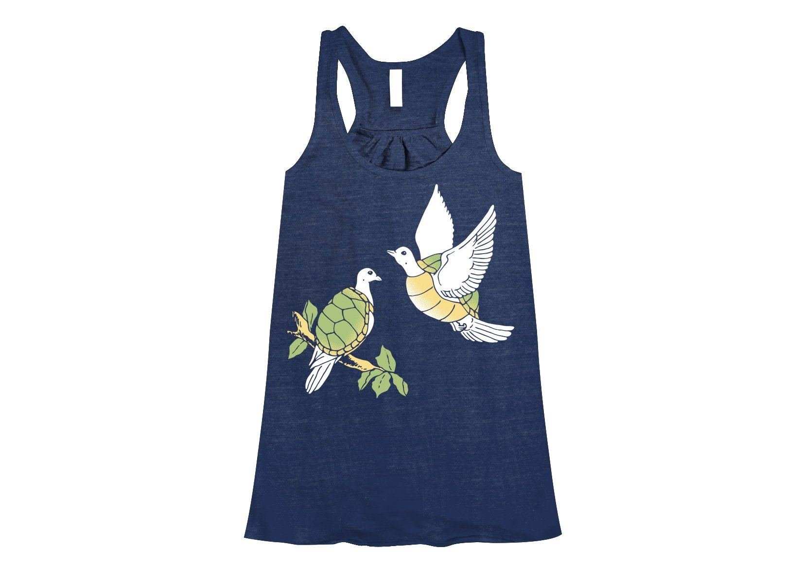 Two Turtle Doves on Womens Tanks T-Shirt