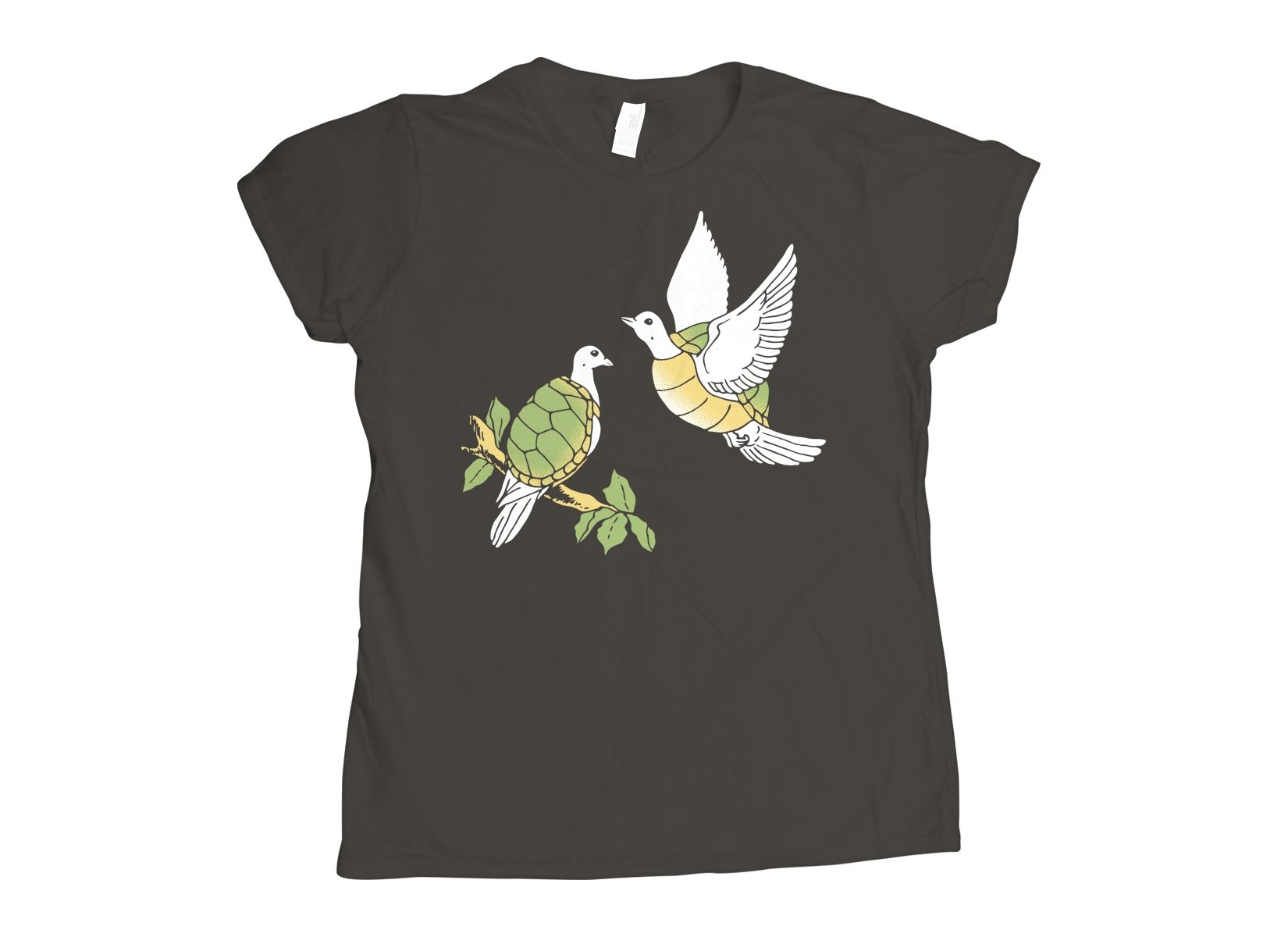 Two Turtle Doves on Womens T-Shirt