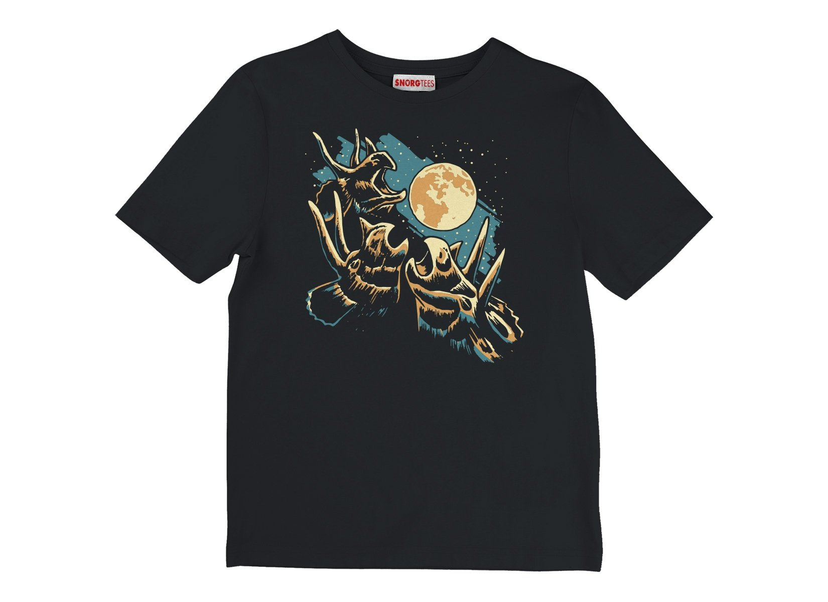 3 Tri Moon on Kids T-Shirt