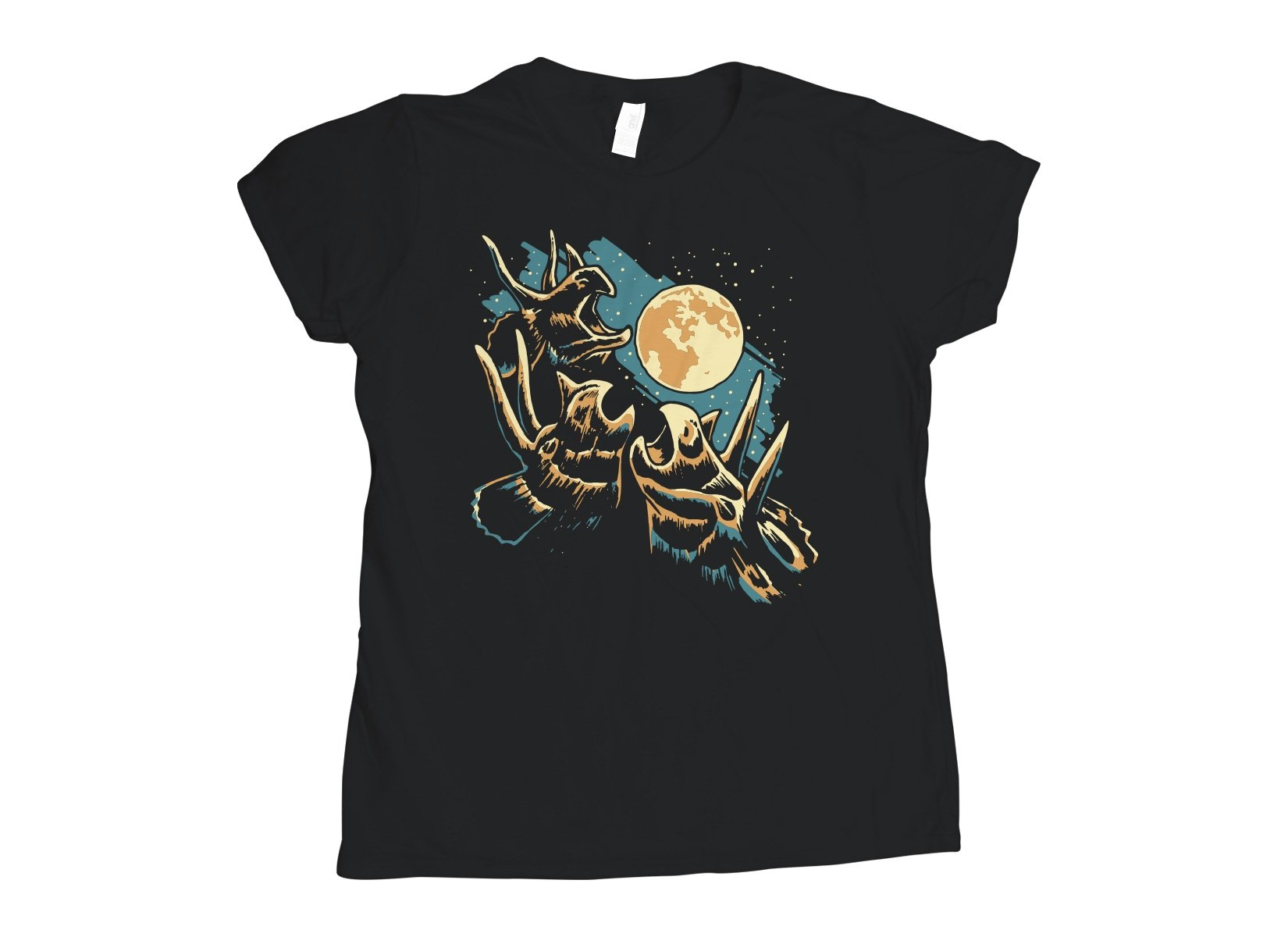 3 Tri Moon on Womens T-Shirt