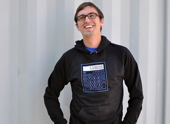 5318008 Calculator on Hoodie