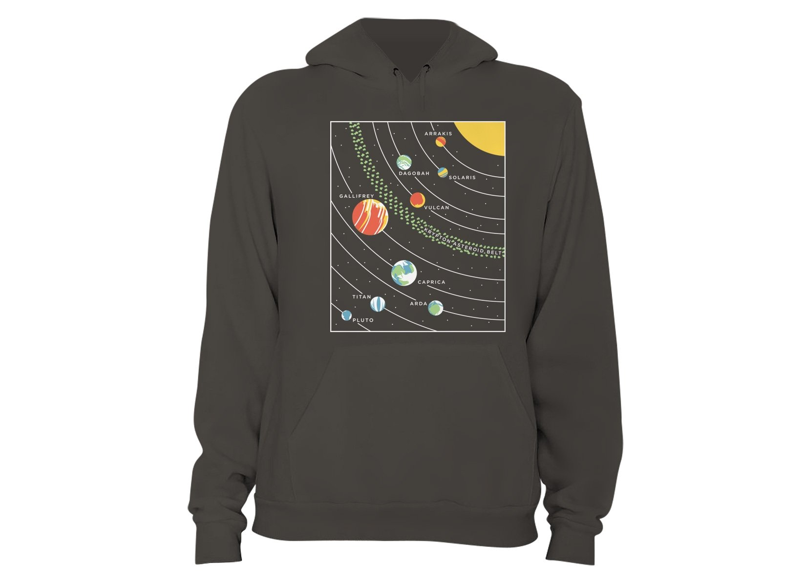 9 Planets on Hoodie