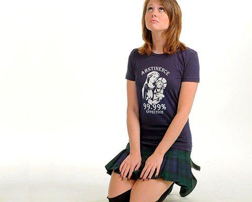 Abstinence, 99.99% Effective on Juniors T-Shirt