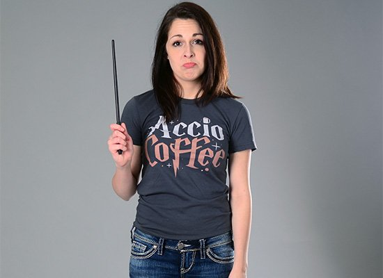 Accio Coffee on Juniors T-Shirt