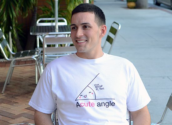 Acute Angle on Mens T-Shirt