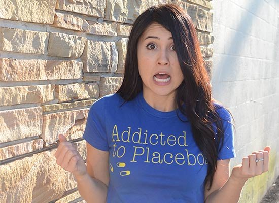 Addicted To Placebos on Juniors T-Shirt