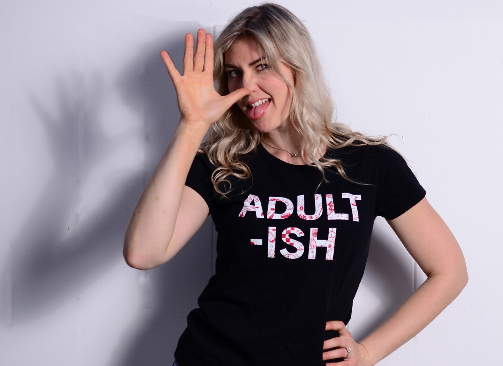 Adult-ish on Womens T-Shirt