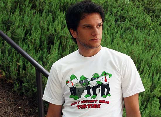 Adult Mutant Ninja Turtles on Mens T-Shirt