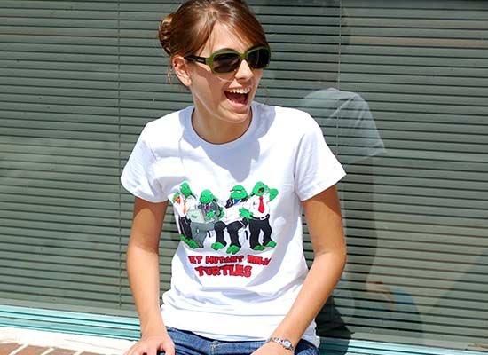 Adult Mutant Ninja Turtles on Juniors T-Shirt