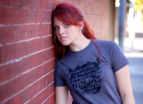 I'm Not Afraid of the Dark on Juniors T-Shirt