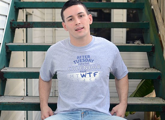 After Tuesday Even The Calendar Says WTF on Mens T-Shirt