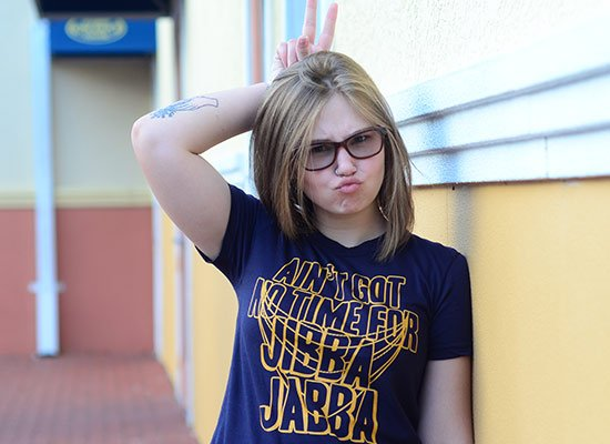 Jibba Jabba on Juniors T-Shirt