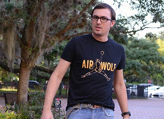 Air Wolf on Mens T-Shirt