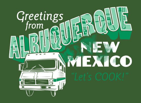 Greetings From Albuquerque on Mens T-Shirt
