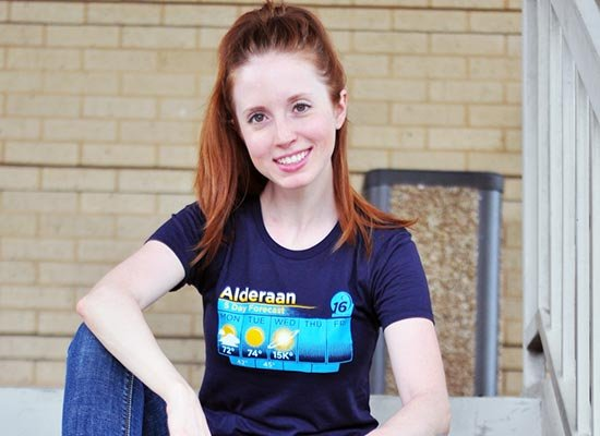Alderaan 5 Day Forecast on Juniors T-Shirt