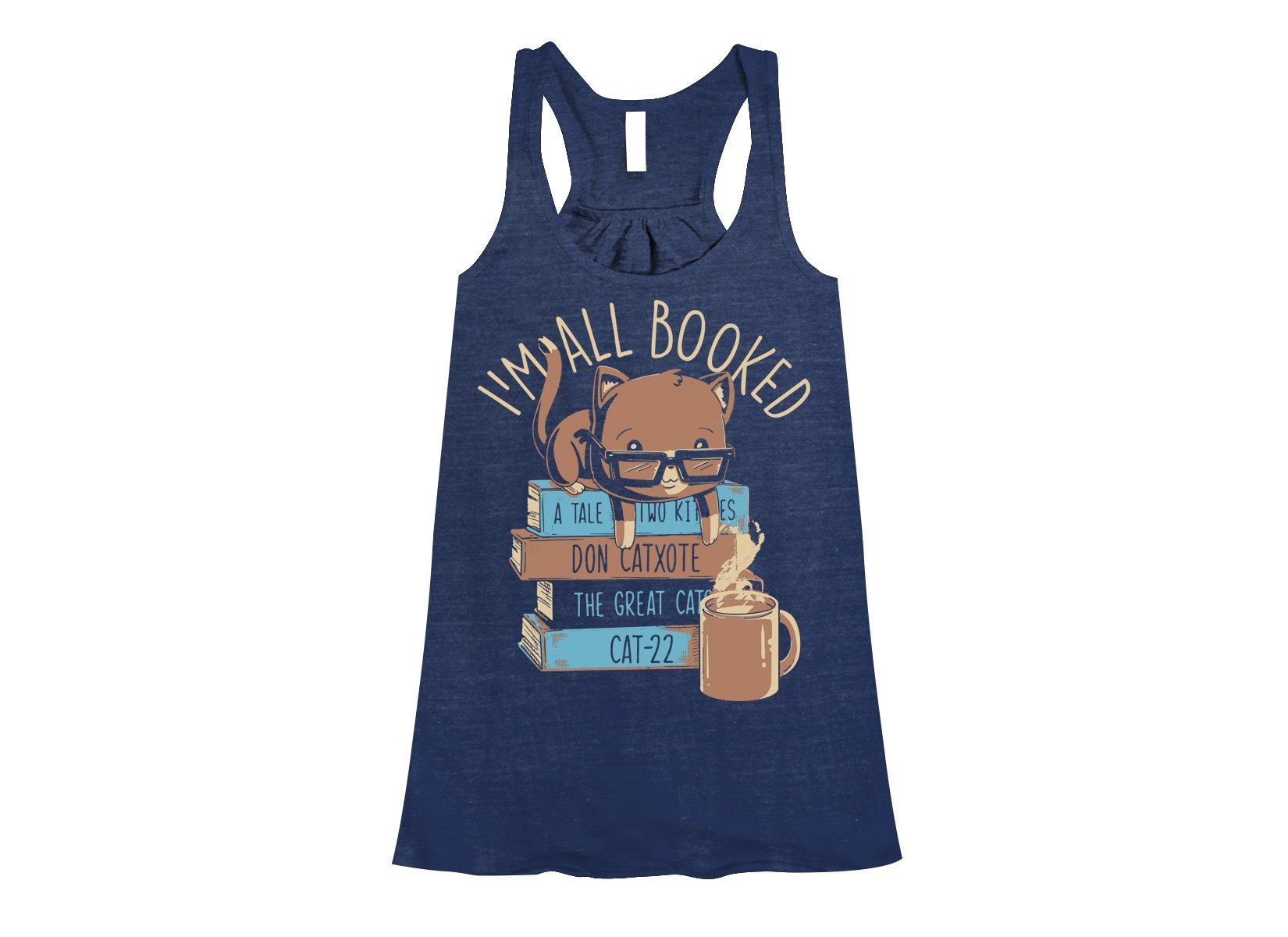 I'm All Booked on Womens Tanks T-Shirt