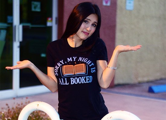 Sorry, My Night Is All Booked on Juniors T-Shirt