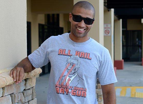 All Hail President Ronald Ray-Gun on Mens T-Shirt