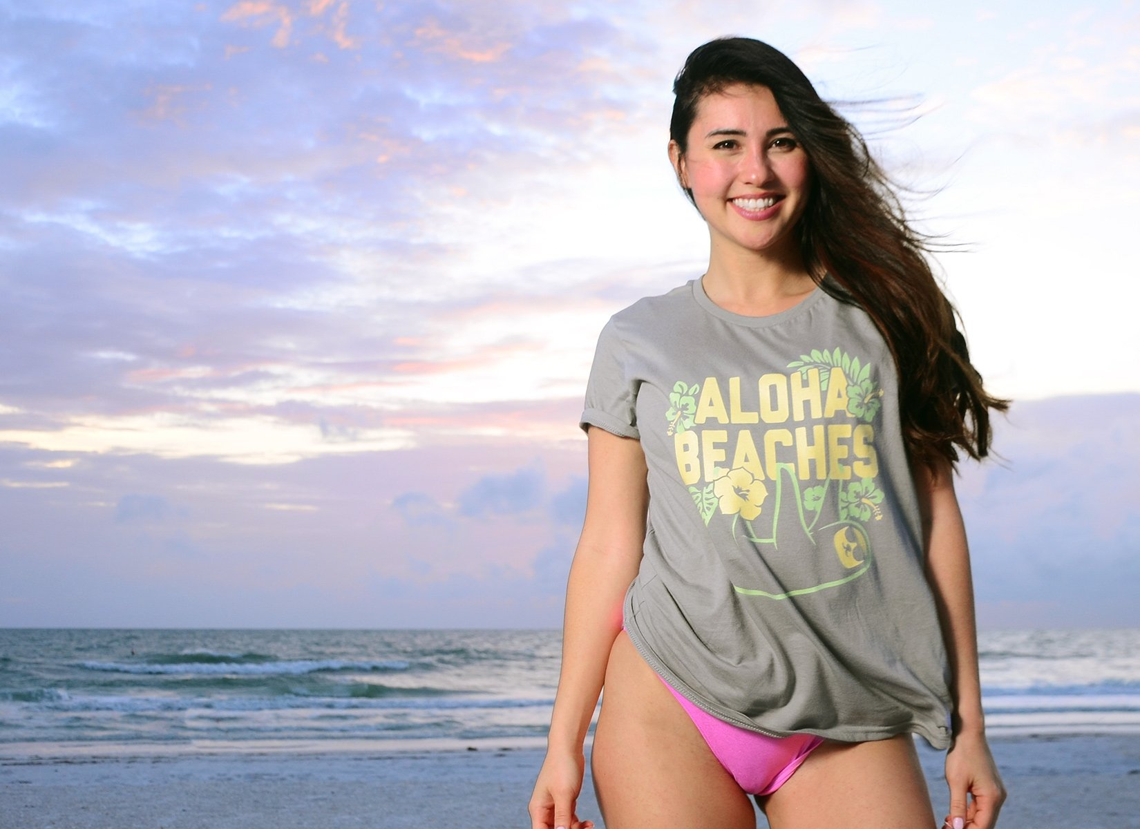 Aloha Beaches on Womens T-Shirt