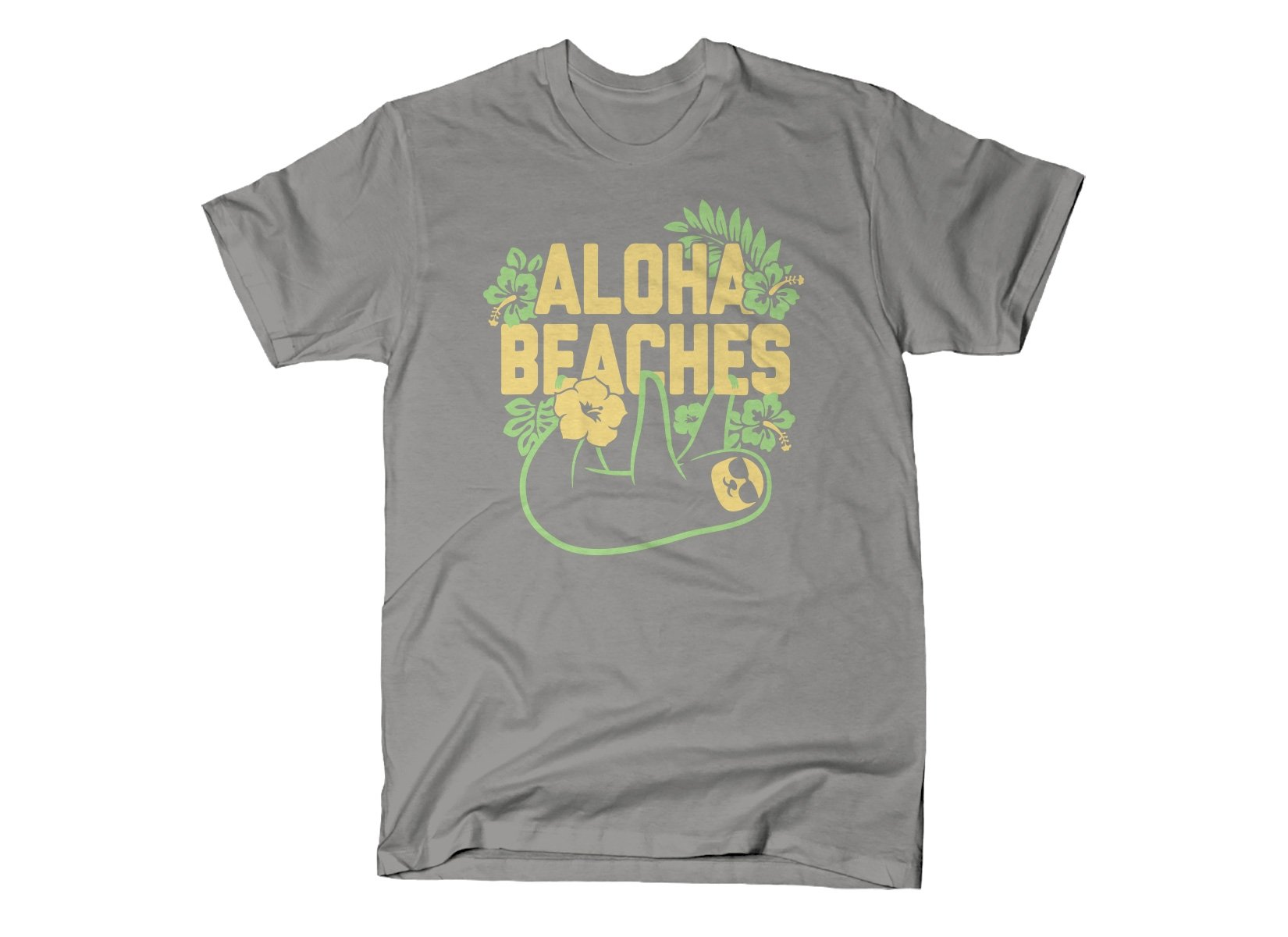 Aloha Beaches on Mens T-Shirt