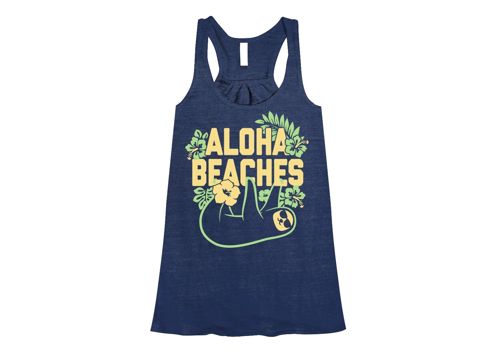 Aloha Beaches on Womens Tanks T-Shirt