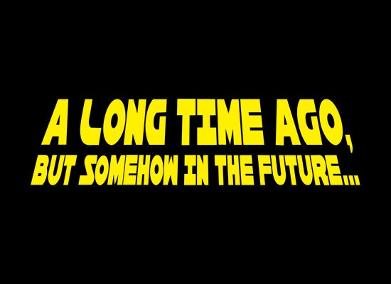 A Long Time Ago, But Somehow In The Future on Mens T-Shirt