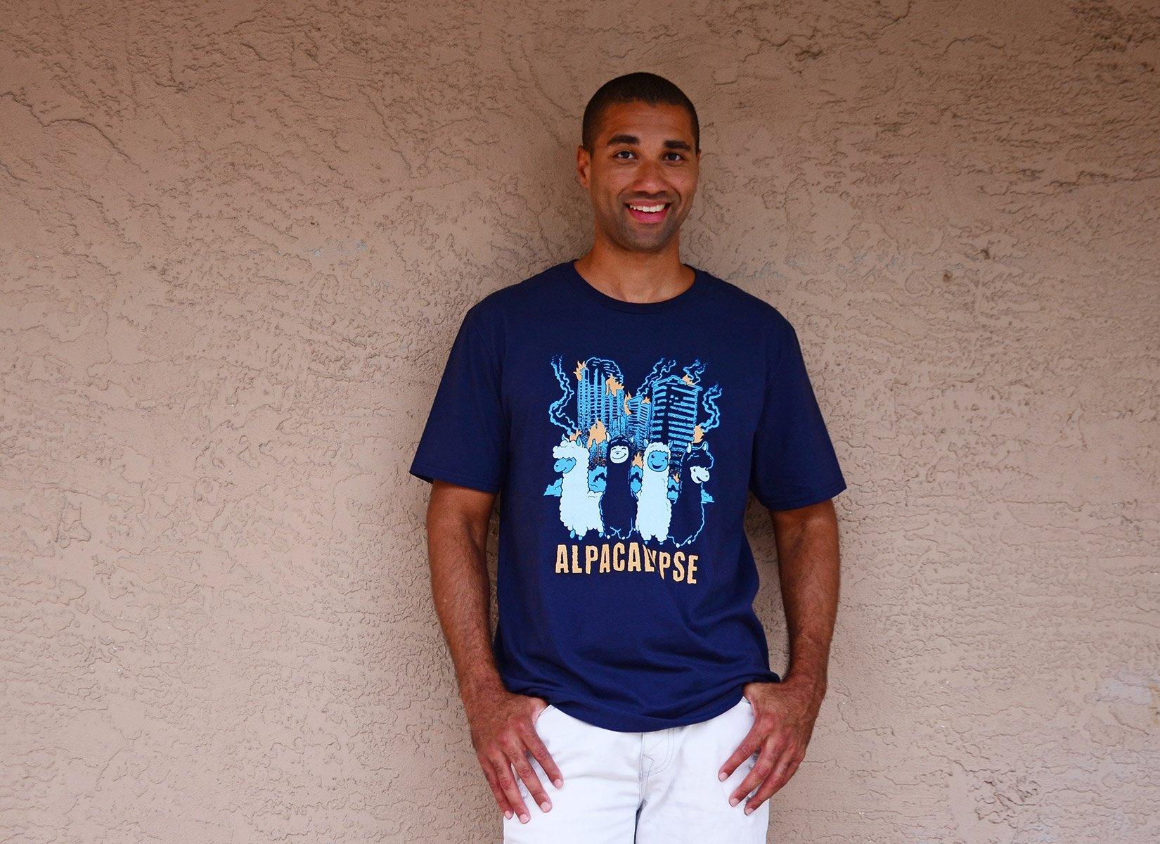 Alpacalypse on Mens T-Shirt