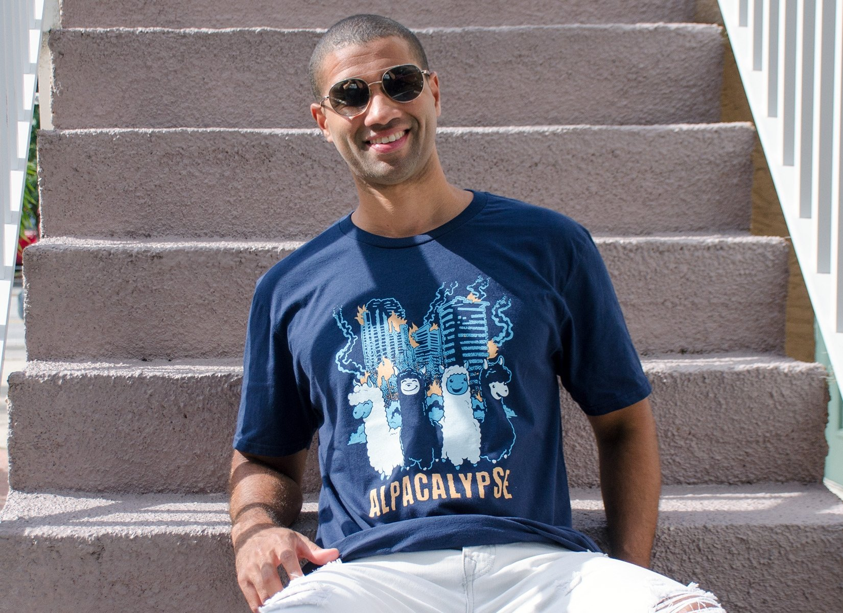 Alpacalypse on Mens T-Shirt