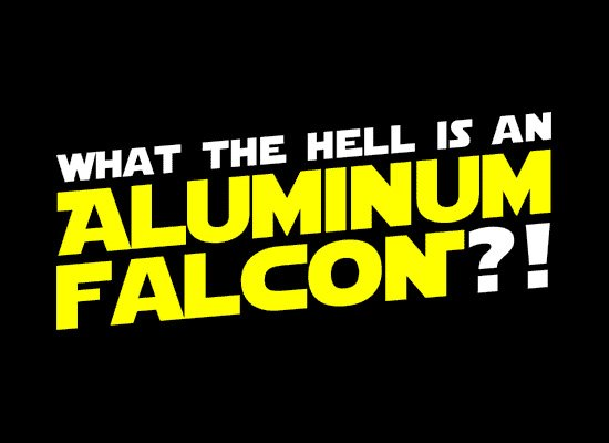 Aluminum Falcon on Mens T-Shirt