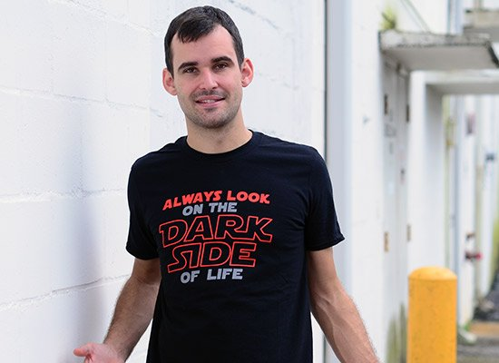 Always Look On The Dark Side Of Life on Mens T-Shirt