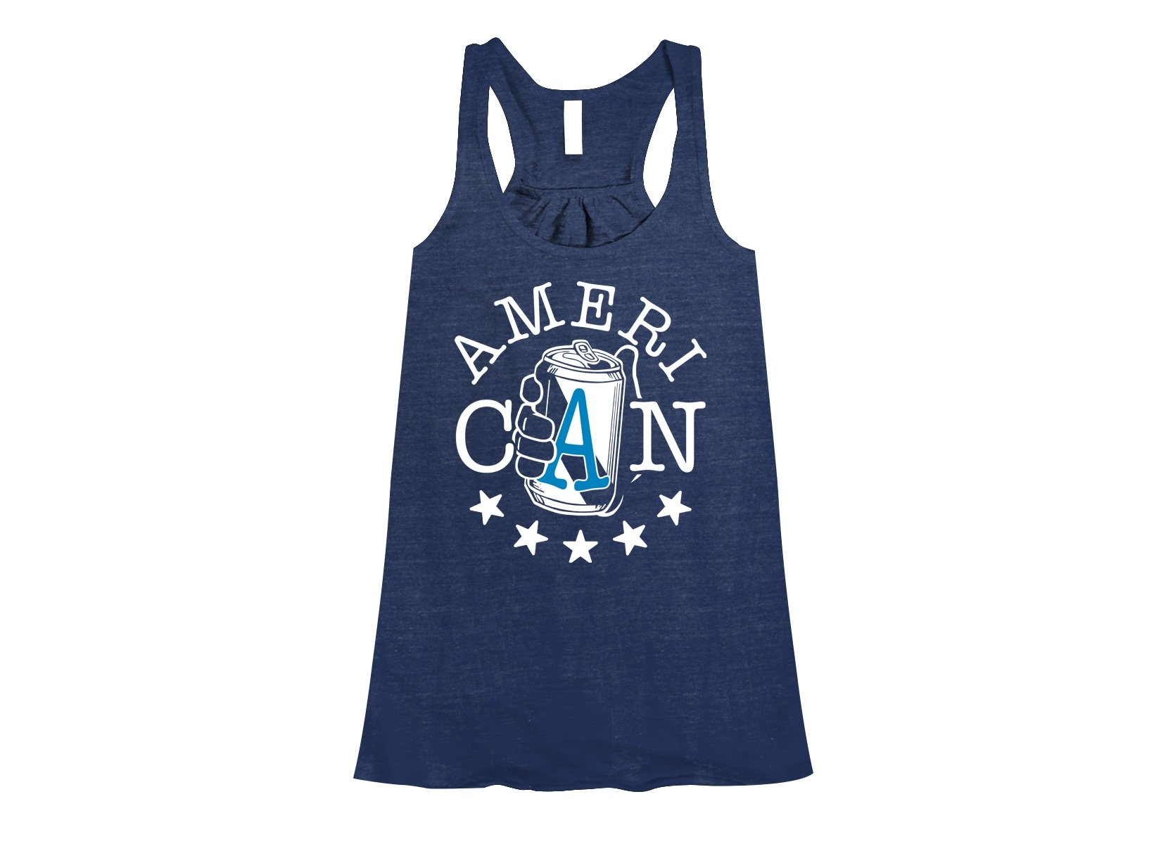 AmeriCAN on Womens Tanks T-Shirt