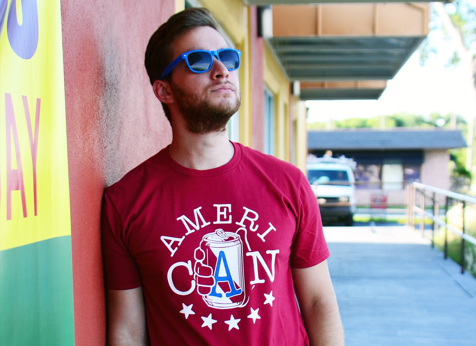 AmeriCAN on Mens T-Shirt