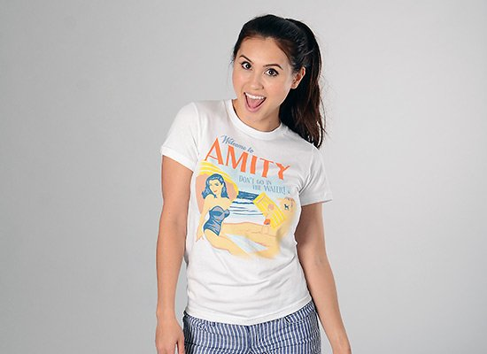 Welcome To Amity on Juniors T-Shirt