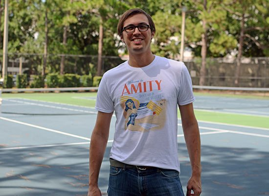 Welcome To Amity on Mens T-Shirt