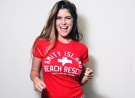 Amity Island Beach Rescue on Juniors T-Shirt