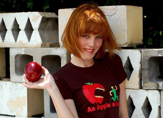 An Apple A Day... on Juniors T-Shirt