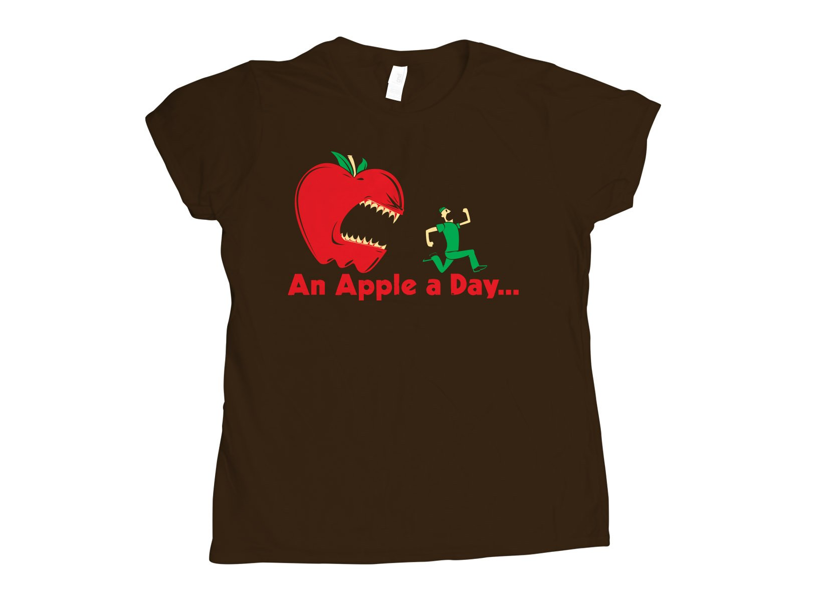 An Apple A Day... on Womens T-Shirt