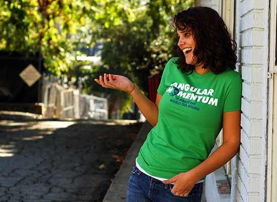 Angular Momentum on Juniors T-Shirt