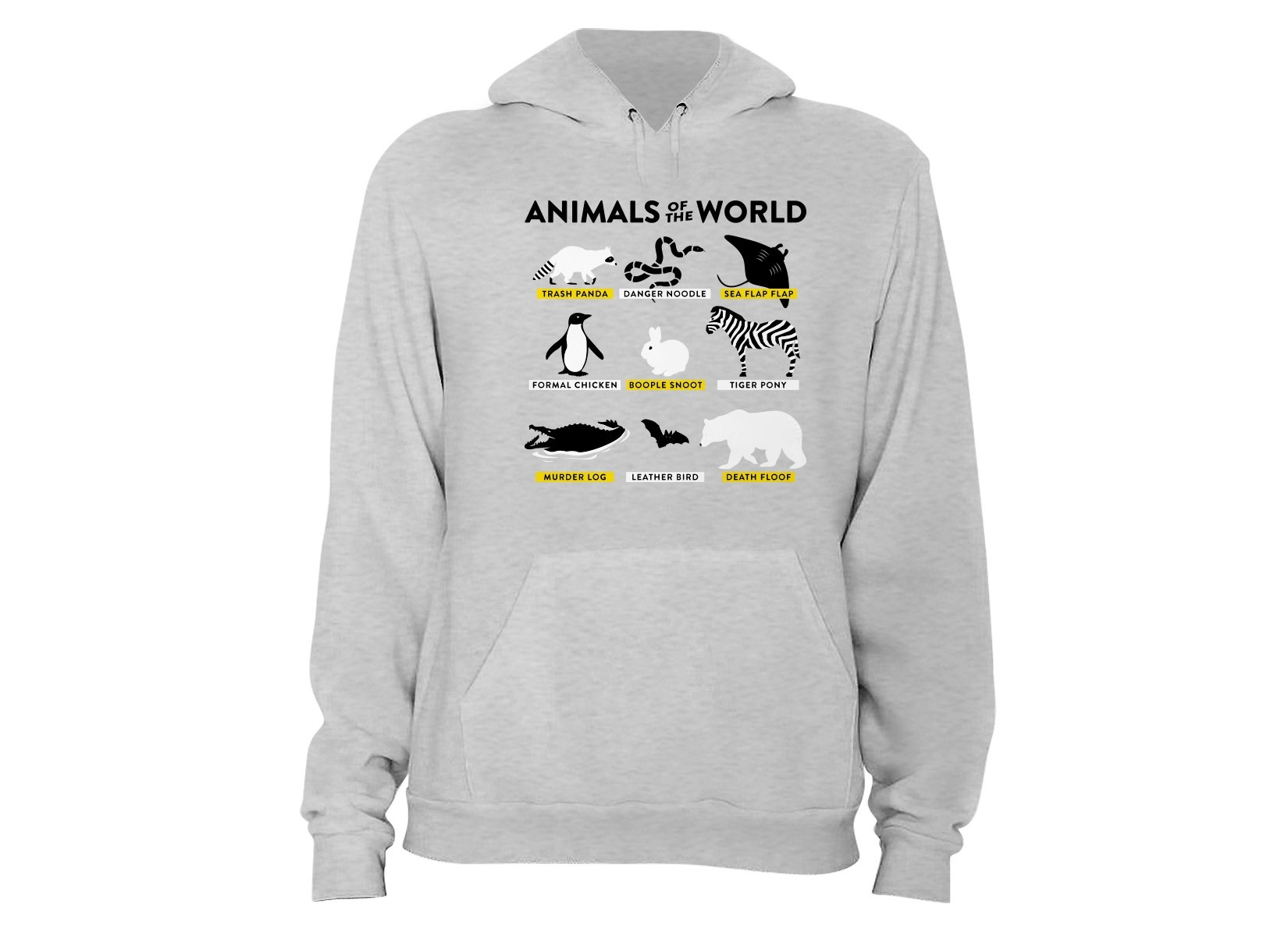 Animals Of The World on Hoodie