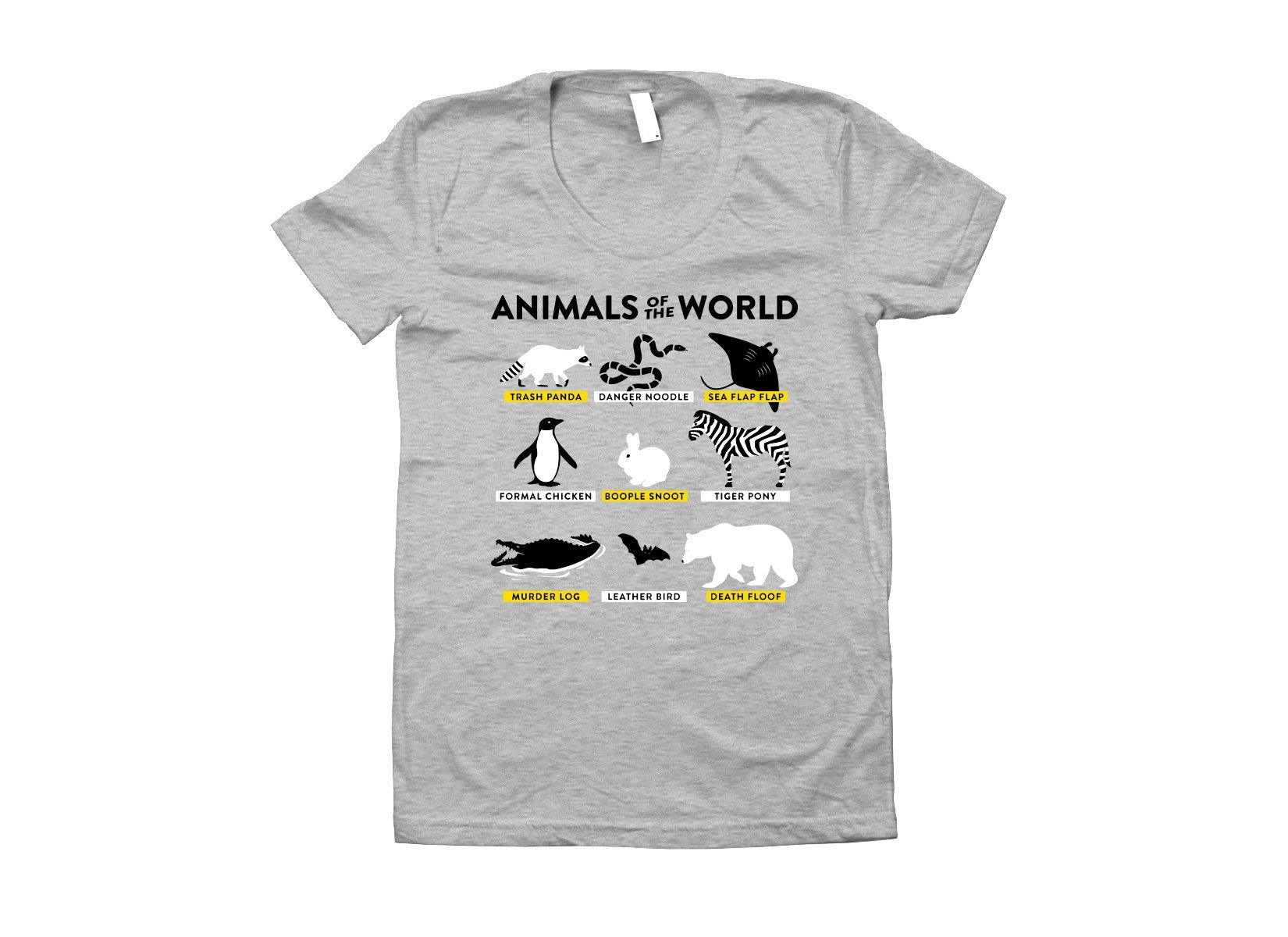Animals Of The World on Juniors T-Shirt