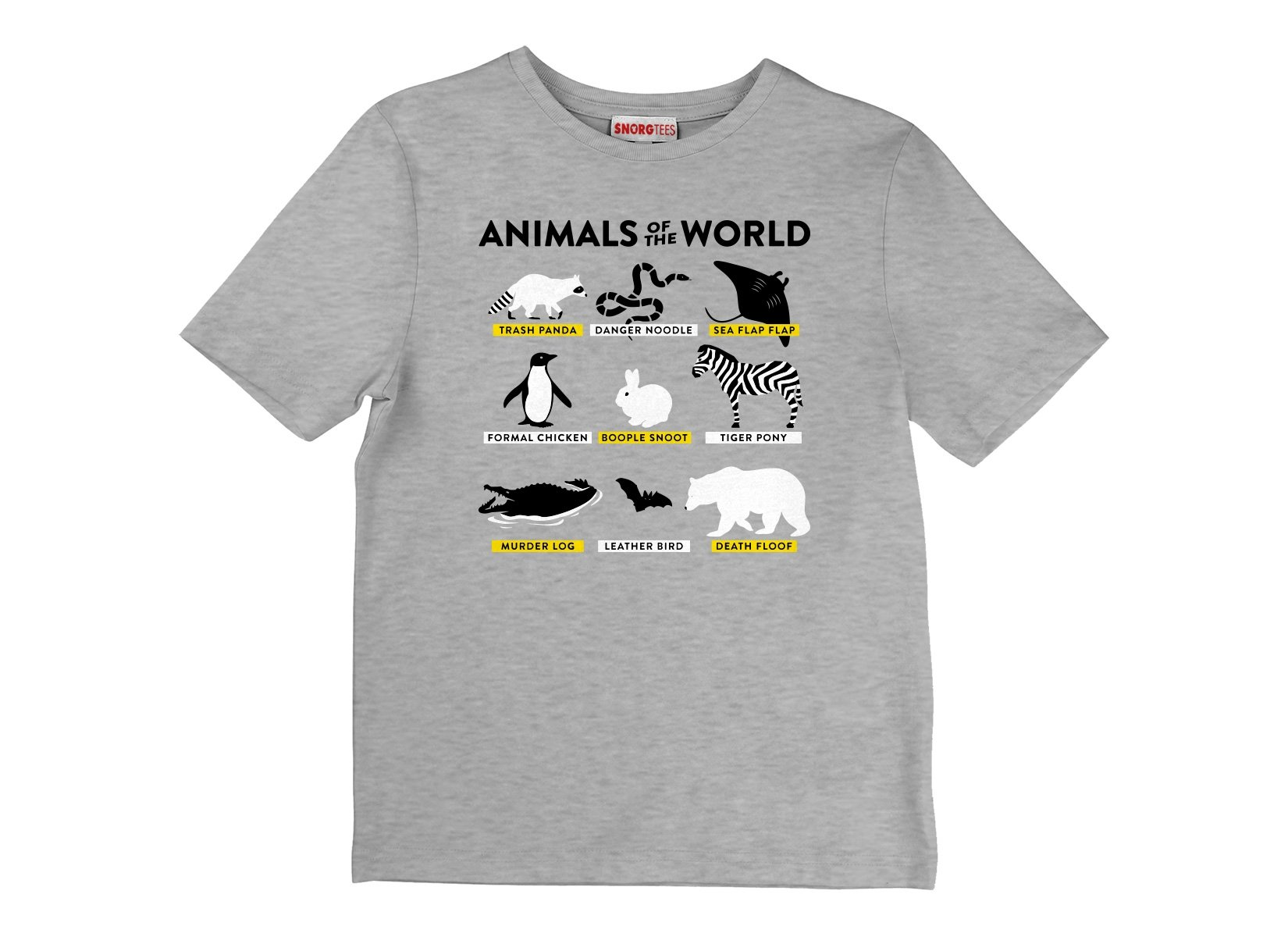 Animals Of The World on Kids T-Shirt