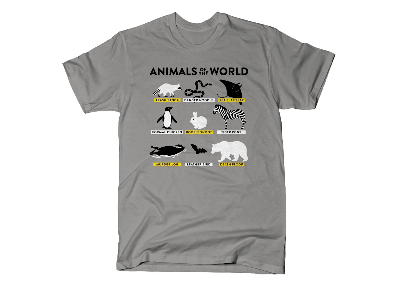 Animals Of The World on Mens T-Shirt
