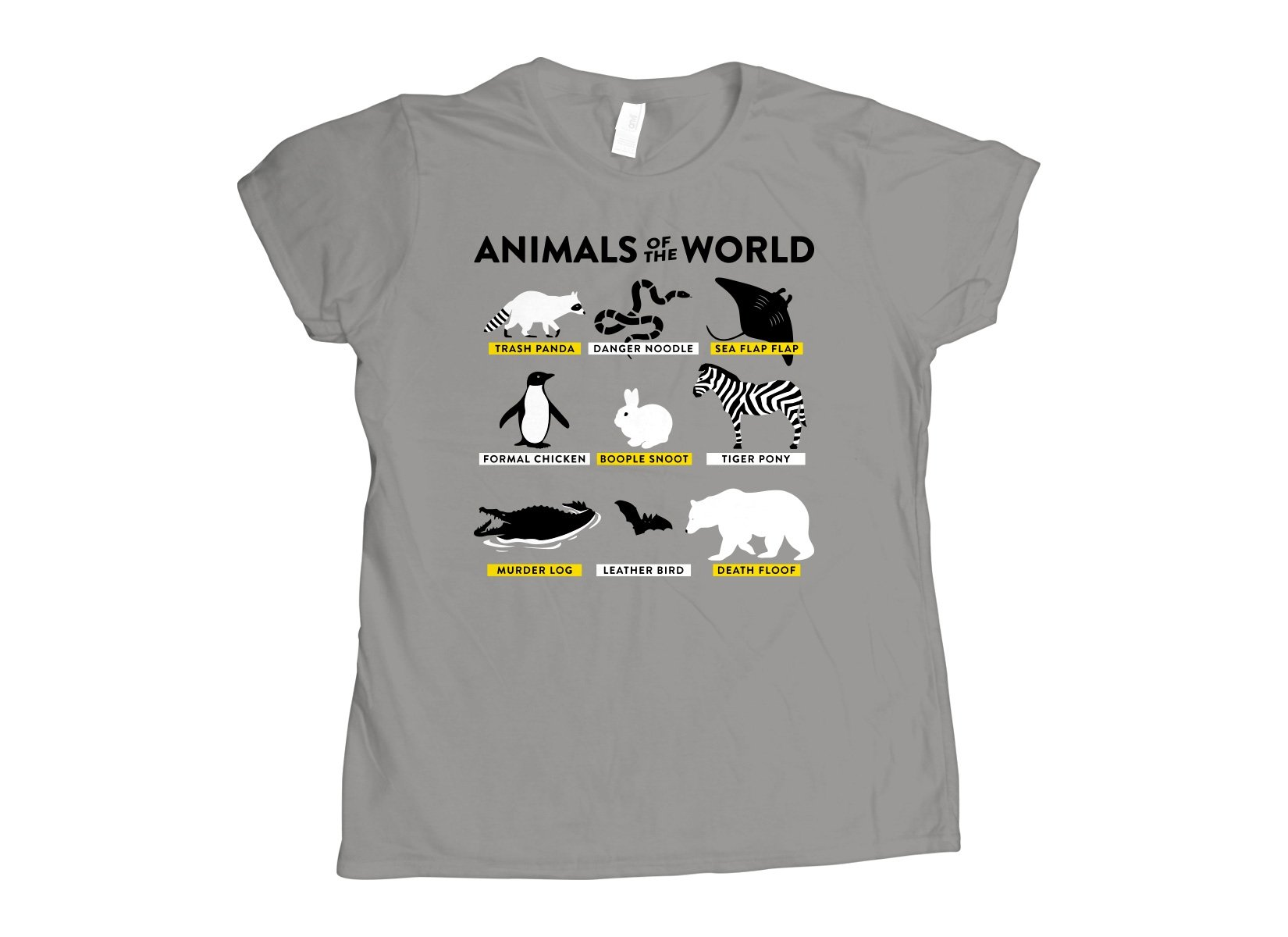 Animals Of The World on Womens T-Shirt