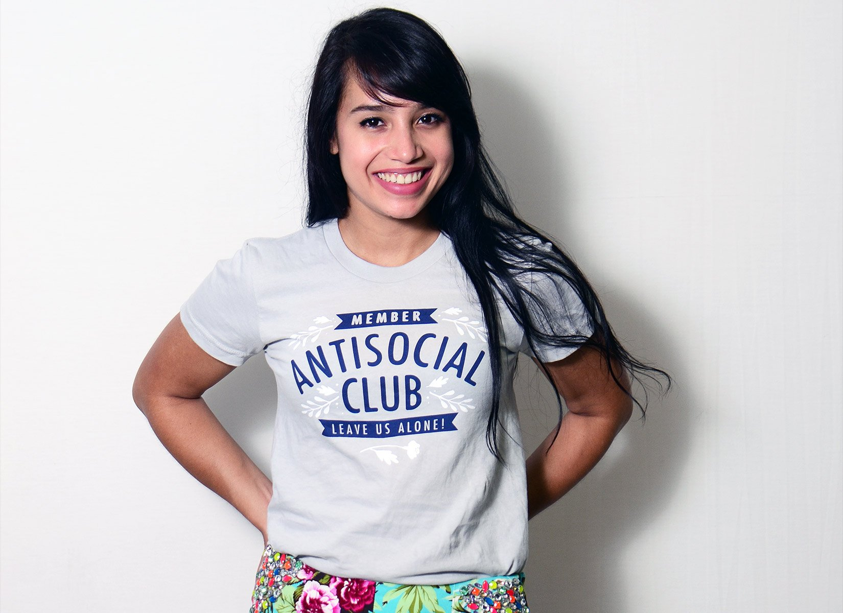 Antisocial Club on Juniors T-Shirt