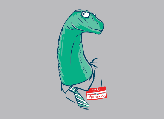 My Name Is Apatosaurus on Mens T-Shirt