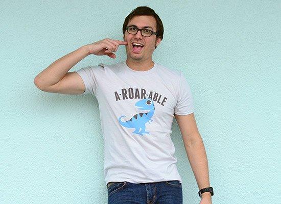 A-Roar-Able on Mens T-Shirt